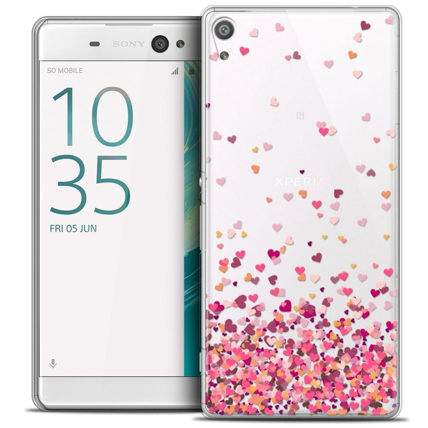 "Coque Crystal Xperia XA Ultra 6"" Extra Fine Sweetie - Heart Flakes"
