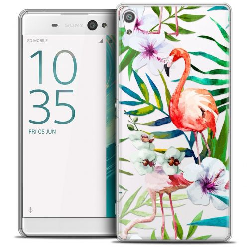"Coque Crystal Sony Xperia XA Ultra 6"" Extra Fine Watercolor - Tropical Flamingo"