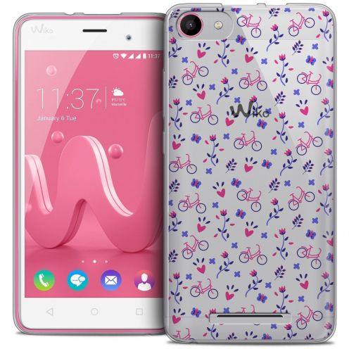 Coque Crystal Gel Wiko Jerry Extra Fine Love - Bicycle