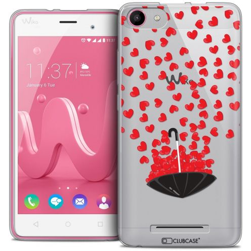 Coque Crystal Gel Wiko Jerry Extra Fine Love - Parapluie d'Amour