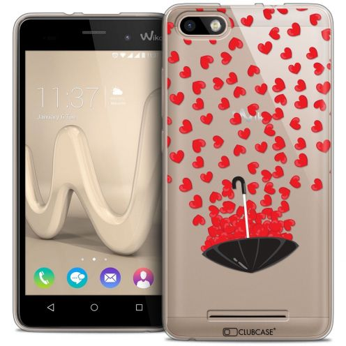 Coque Crystal Gel Wiko Lenny 3 Extra Fine Love - Parapluie d'Amour