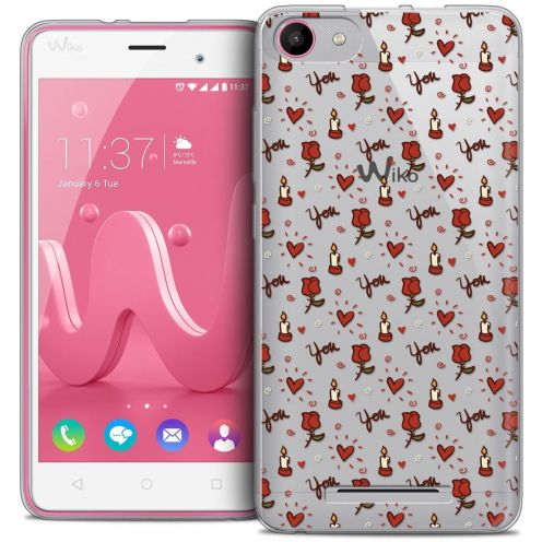 Coque Crystal Gel Wiko Jerry Extra Fine Love - Bougies et Roses