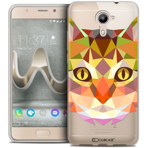 Coque Crystal Gel Wiko U Feel PRIME Extra Fine Polygon Animals - Chat