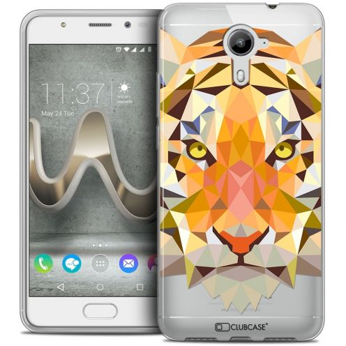 Coque Crystal Gel Wiko U Feel PRIME Extra Fine Polygon Animals - Tigre