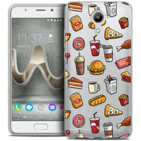 Coque Crystal Gel Wiko U Feel PRIME Extra Fine Foodie - Fast Food
