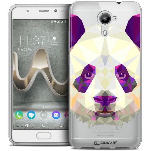 Coque Crystal Gel Wiko U Feel PRIME Extra Fine Polygon Animals - Panda