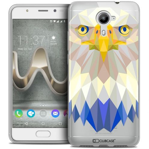 Coque Crystal Gel Wiko U Feel PRIME Extra Fine Polygon Animals - Aigle