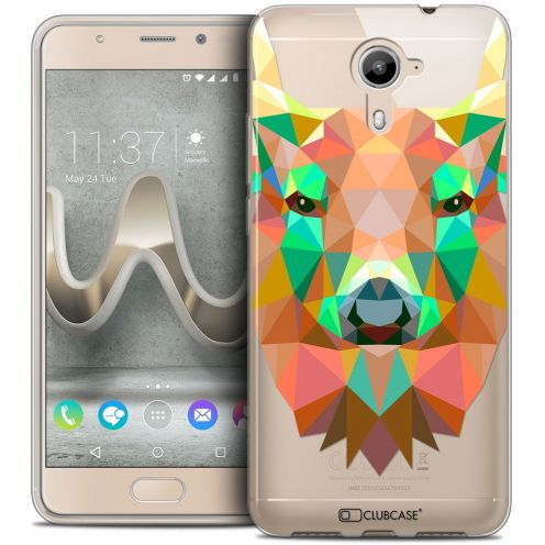 Coque Crystal Gel Wiko U Feel PRIME Extra Fine Polygon Animals - Cerf