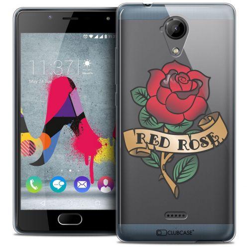 Coque Crystal Gel Wiko U Feel LITE Extra Fine Tatoo Lover - Red Rose