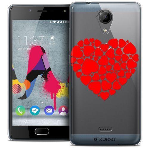 Coque Crystal Gel Wiko U Feel LITE Extra Fine Love - Coeur des Coeurs