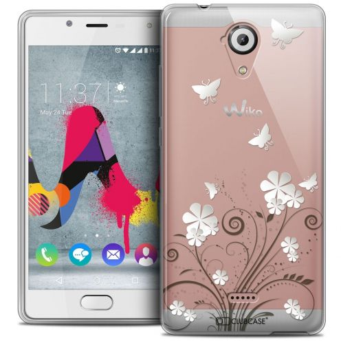 Coque Crystal Gel Wiko U Feel LITE Extra Fine Summer - Papillons