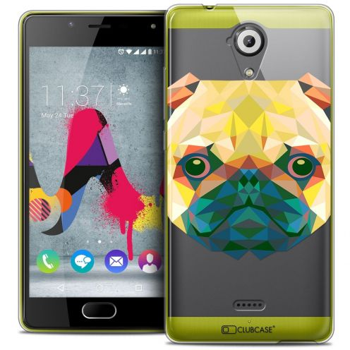 Coque Crystal Gel Wiko U Feel LITE Extra Fine Polygon Animals - Chien