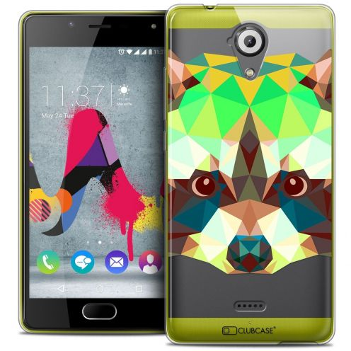 Coque Crystal Gel Wiko U Feel LITE Extra Fine Polygon Animals - Raton Laveur