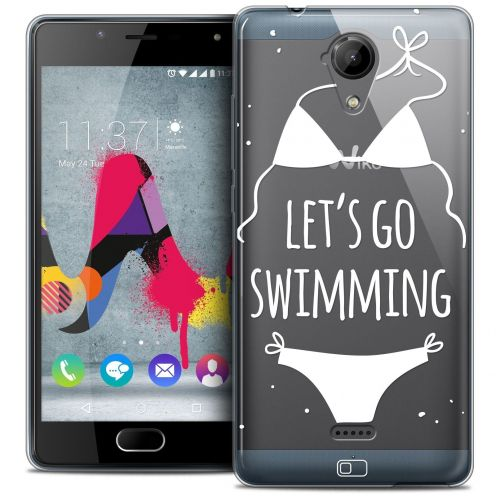Coque Crystal Gel Wiko U Feel LITE Extra Fine Summer - Let's Go Swim
