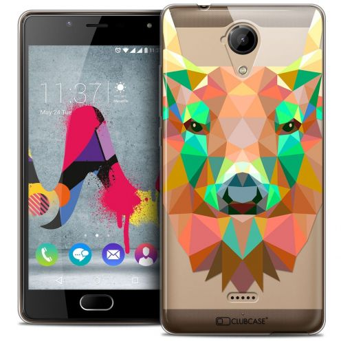 Coque Crystal Gel Wiko U Feel LITE Extra Fine Polygon Animals - Cerf