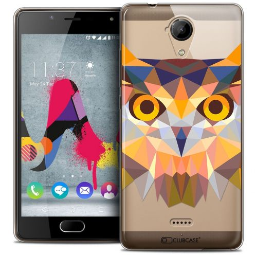 Coque Crystal Gel Wiko U Feel LITE Extra Fine Polygon Animals - Hibou