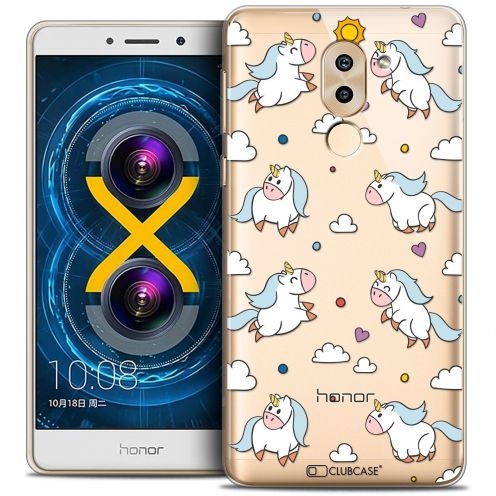 Coque Crystal Gel Huawei Honor 6X Extra Fine Fantasia - Licorne In the Sky