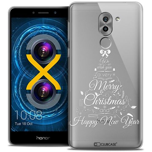 Coque Crystal Gel Huawei Honor 6X Extra Fine Noël 2016 - Calligraphie