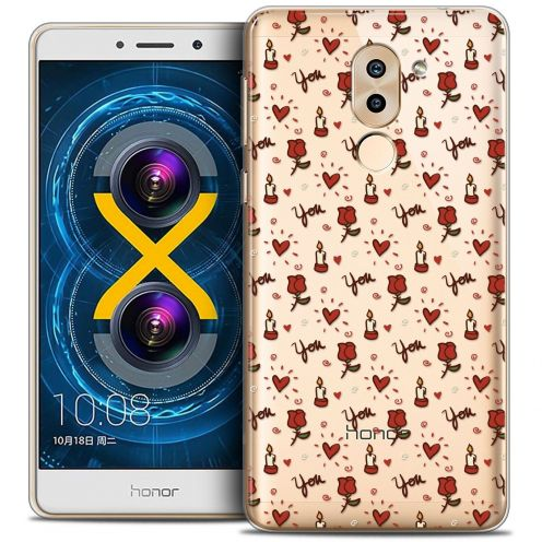 Coque Crystal Gel Huawei Honor 6X Extra Fine Love - Bougies et Roses