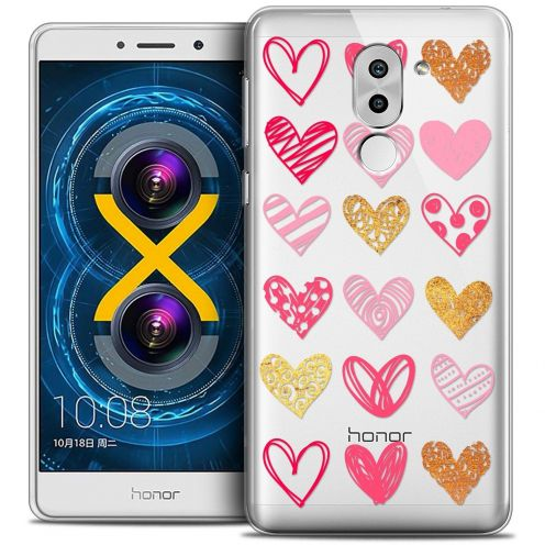 Coque Crystal Gel Huawei Honor 6X Extra Fine Sweetie - Doodling Hearts