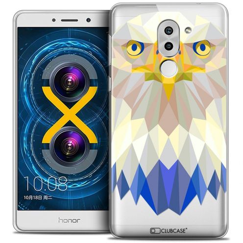 Coque Crystal Gel Huawei Honor 6X Extra Fine Polygon Animals - Aigle