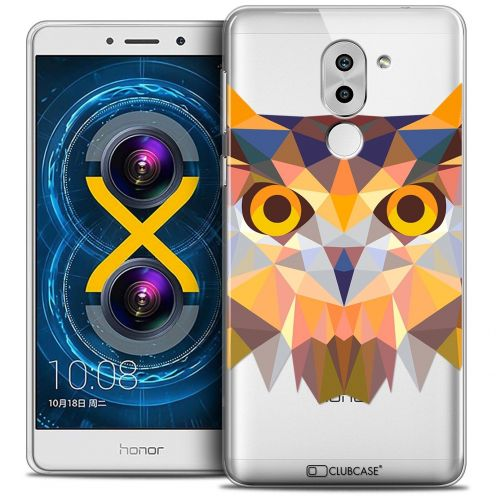 Coque Crystal Gel Huawei Honor 6X Extra Fine Polygon Animals - Hibou