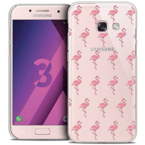 Coque Crystal Samsung Galaxy A3 2017 (A320) Extra Fine Pattern - Les flamants Roses