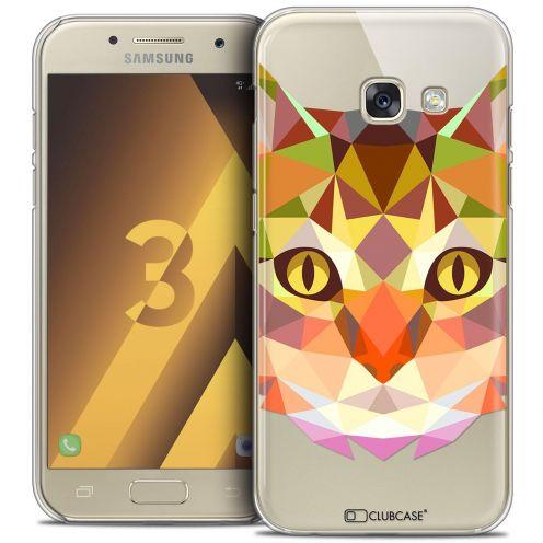 Coque Crystal Samsung Galaxy A3 2017 (A320) Extra Fine Polygon Animals - Chat