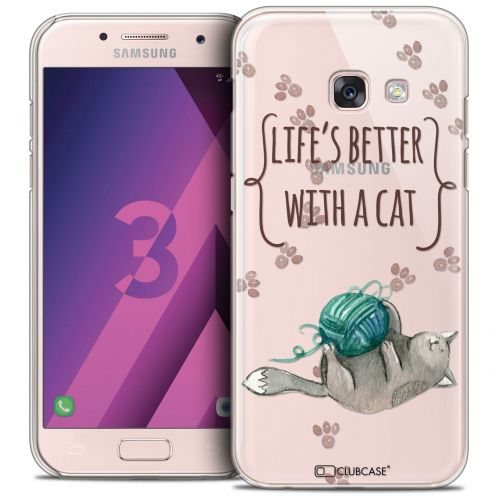 Coque Crystal Samsung Galaxy A3 2017 (A320) Extra Fine Quote - Life's Better With a Cat