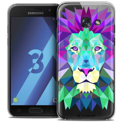 Coque Crystal Samsung Galaxy A3 2017 (A320) Extra Fine Polygon Animals - Lion