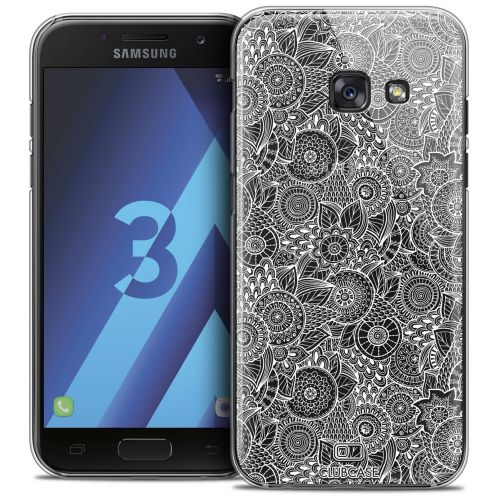 Coque Crystal Samsung Galaxy A3 2017 (A320) Extra Fine Dentelle Florale - Blanc