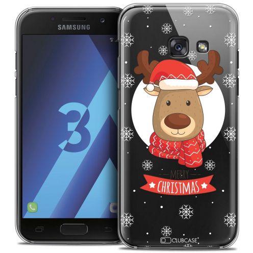 Coque Crystal Samsung Galaxy A3 2017 (A320) Extra Fine Noël 2016 - Cerf à Echarpe