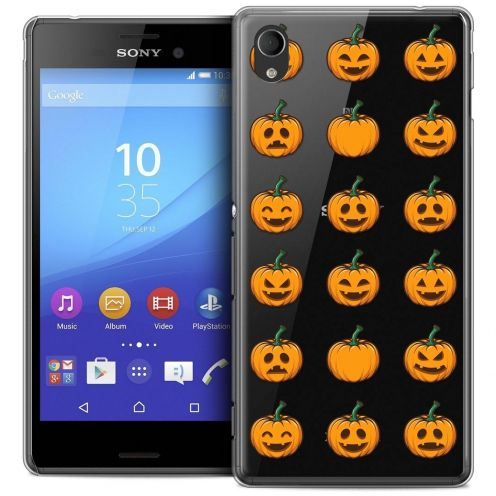 Coque Crystal Sony Xperia M4 Aqua Extra Fine Halloween - Smiley Citrouille