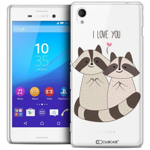 Coque Crystal Sony Xperia M4 Aqua Extra Fine Sweetie - Racoon Love