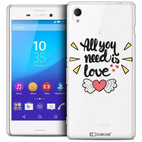 Coque Crystal Sony Xperia M4 Aqua Extra Fine Love - All U Need Is