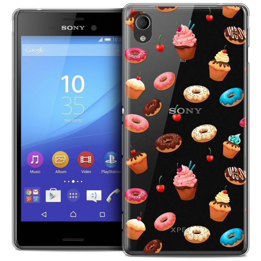 Coque Crystal Sony Xperia M4 Aqua Extra Fine Foodie - Donuts
