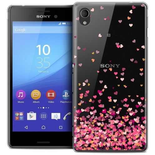 Coque Crystal Sony Xperia M4 Aqua Extra Fine Sweetie - Heart Flakes