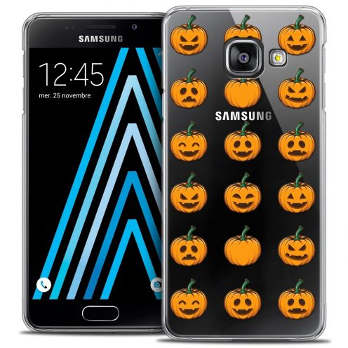 Coque Crystal Samsung Galaxy A3 2016 (A310) Extra Fine Halloween - Smiley Citrouille