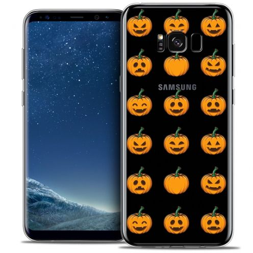Coque Crystal Gel Samsung Galaxy S8 (G950) Extra Fine Halloween - Smiley Citrouille