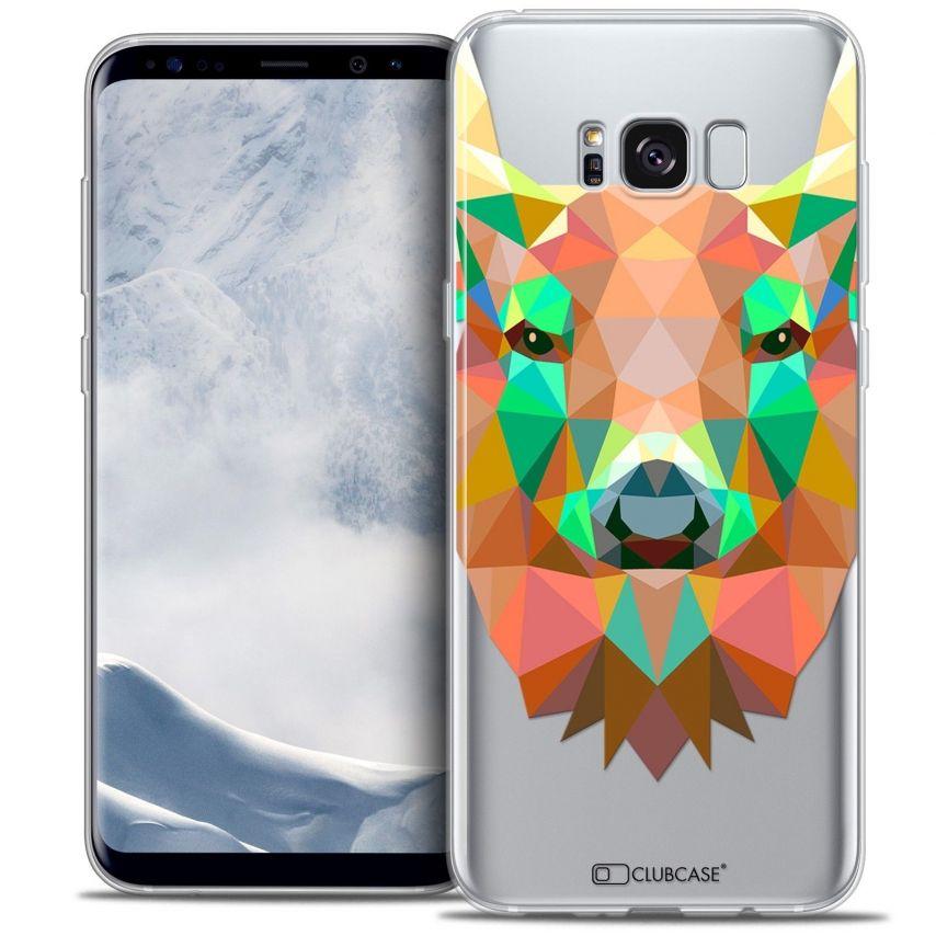 Coque Crystal Gel Samsung Galaxy S8 (G950) Extra Fine Polygon Animals - Cerf