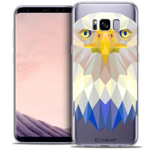 Coque Crystal Gel Samsung Galaxy S8 (G950) Extra Fine Polygon Animals - Aigle