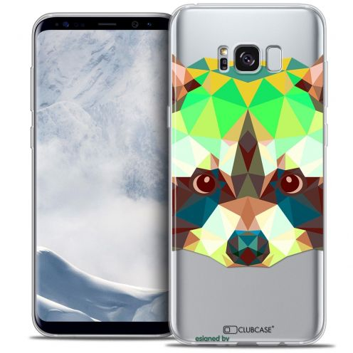 Coque Crystal Gel Samsung Galaxy S8 (G950) Extra Fine Polygon Animals - Raton Laveur