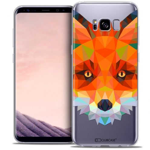 Coque Crystal Gel Samsung Galaxy S8 (G950) Extra Fine Polygon Animals - Renard