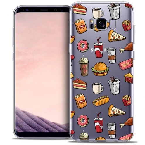 Coque Crystal Gel Samsung Galaxy S8 (G950) Extra Fine Foodie - Fast Food