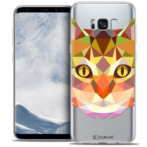 Coque Crystal Gel Samsung Galaxy S8 (G950) Extra Fine Polygon Animals - Chat