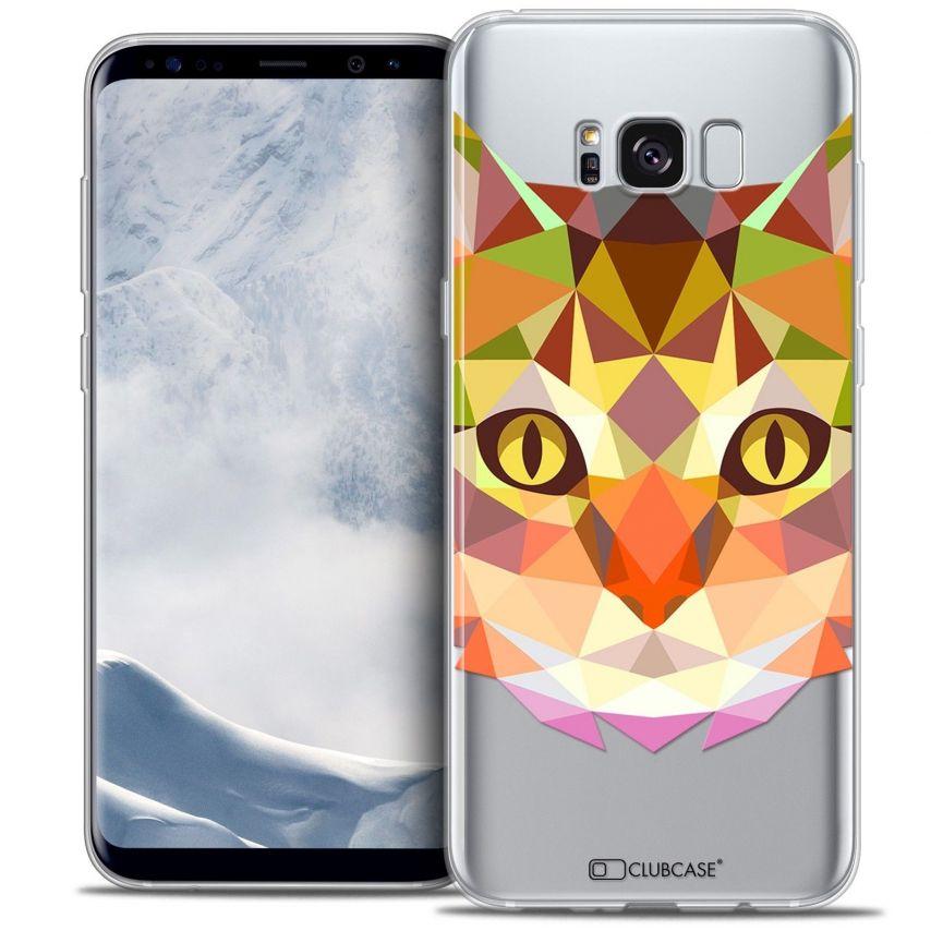Coque Crystal Gel Samsung Galaxy S8 (G950) Extra Fine Polygon Animals - Chat