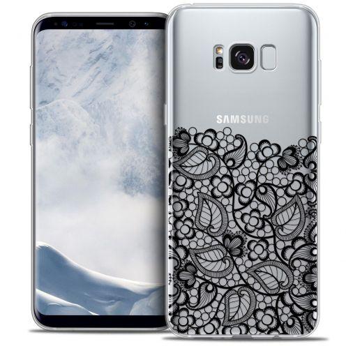 Coque Crystal Gel Samsung Galaxy S8 (G950) Extra Fine Spring - Bas dentelle Noir