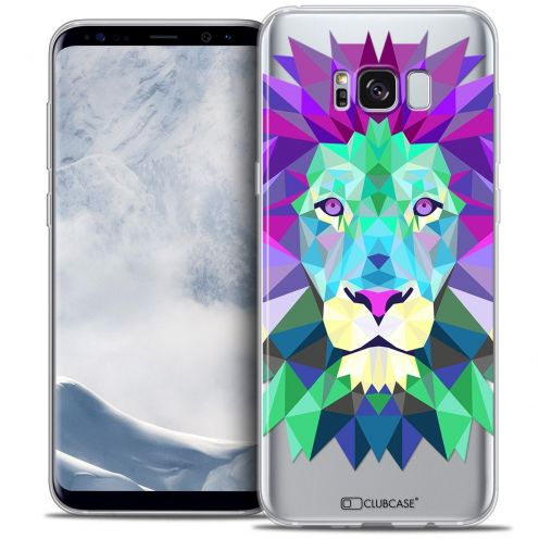 Coque Crystal Gel Samsung Galaxy S8 (G950) Extra Fine Polygon Animals - Lion