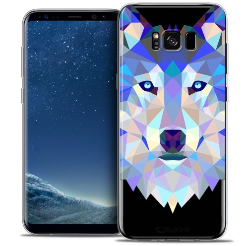 Coque Crystal Gel Samsung Galaxy S8 (G950) Extra Fine Polygon Animals - Loup