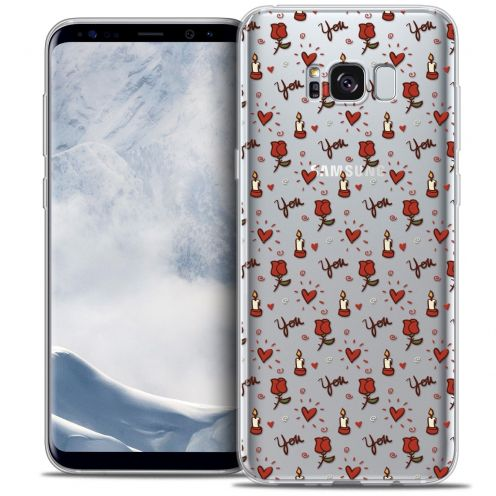 Coque Crystal Gel Samsung Galaxy S8 (G950) Extra Fine Love - Bougies et Roses